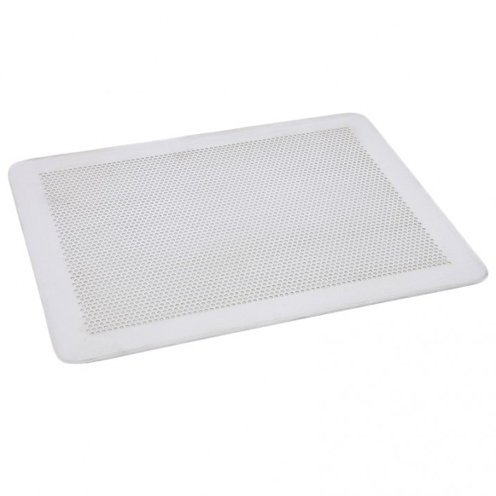 Bandeja de aluminio perforada rectangular 40 cm - De Buyer