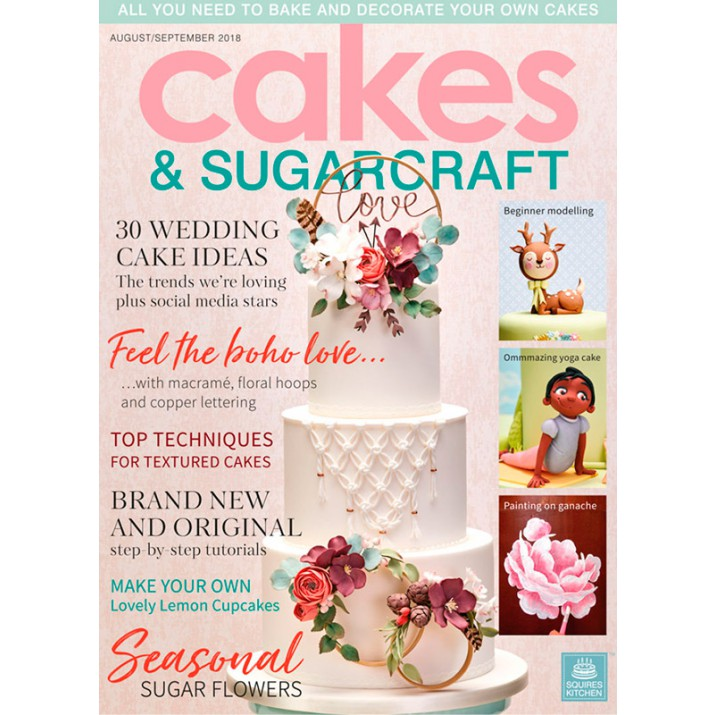 Cakes & Sugarcraft Magazine Agust/September 2018 - Squires Kitchen