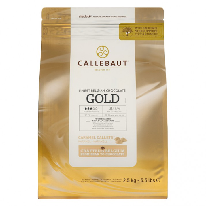 Callets Chocolate caramelo Gold 2,5 kg - Callebaut