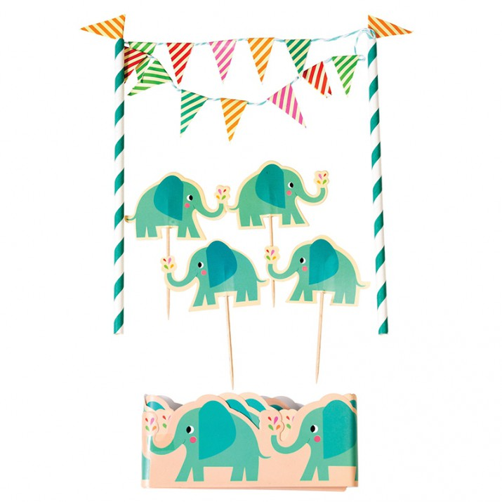 Kit para decorar tartas Elefante Elvis - Rex London