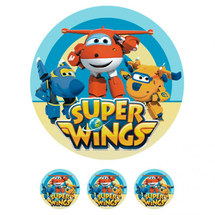 Oblea Super Wings nº 1327 - Sin gluten - Postreadicción
