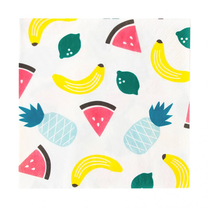 Servilletas de papel frutas (20) - My Little Day