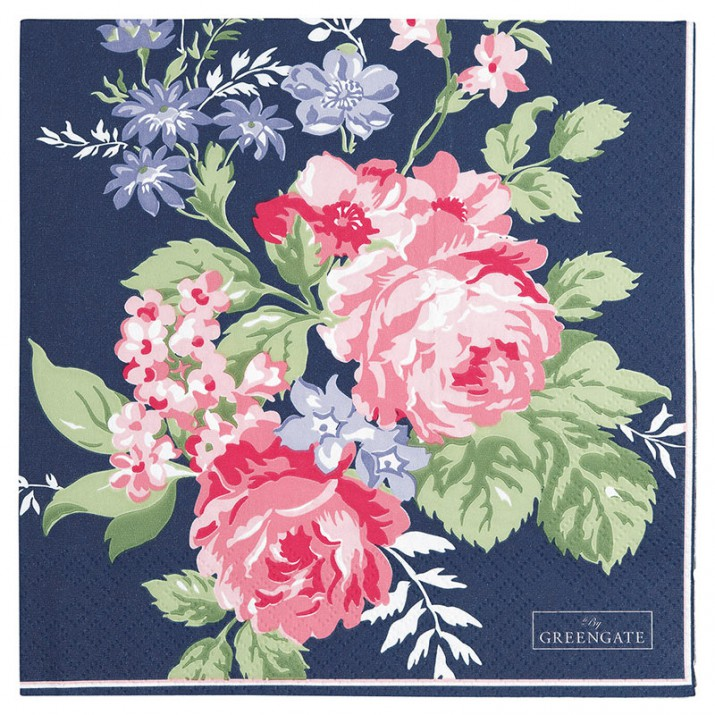 Servilletas de papel Rose Dark Blue (20) - GreenGate