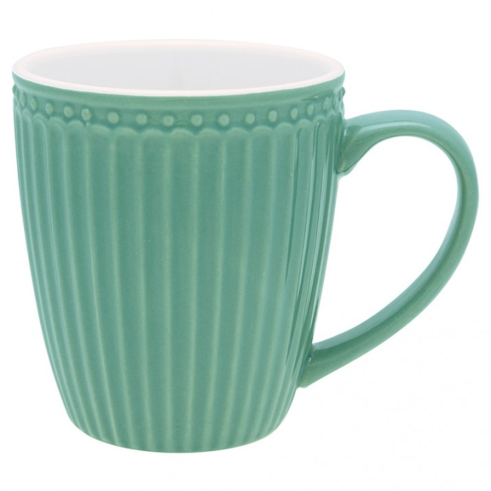 Taza con asa Alice Dusty Green - GreenGate