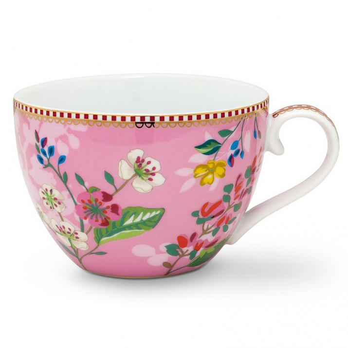 Taza con asa Floral Hummingbirds Rose 350 ml - Pip Studio
