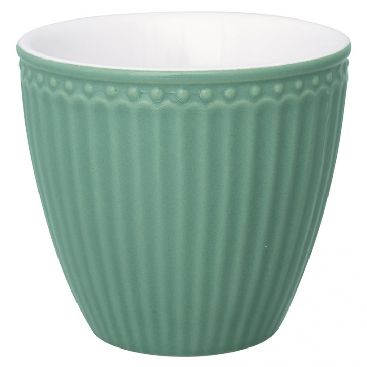 Tazón de leche Alice Dusty Green - GreenGate