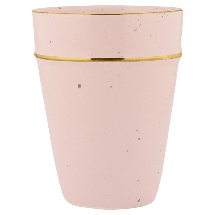 Vaso Pale Pink With Gold Rim - GreenGate