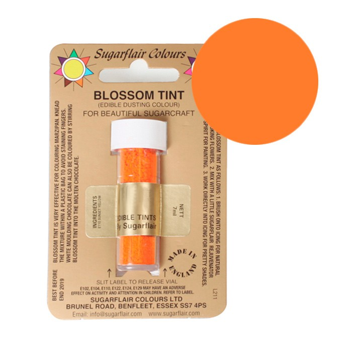 Colorante en polvo naranja amarillo 7 ml - Sugarflair