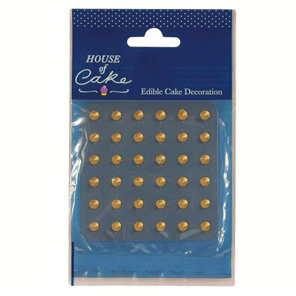 Diamantes minis comestibles oro (36) - House of Cake