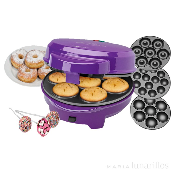 M quina 3 en 1 para cupcakes donuts y cake pops clatronic - Maquina hacer donuts ...