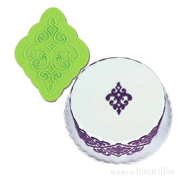 Molde silicona para fondant Filigrana damasco - Marvelous