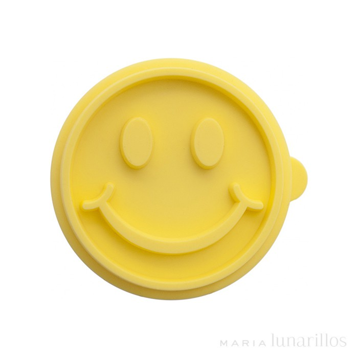 Sello de silicona con mango para galletas Smiley - Birkmann