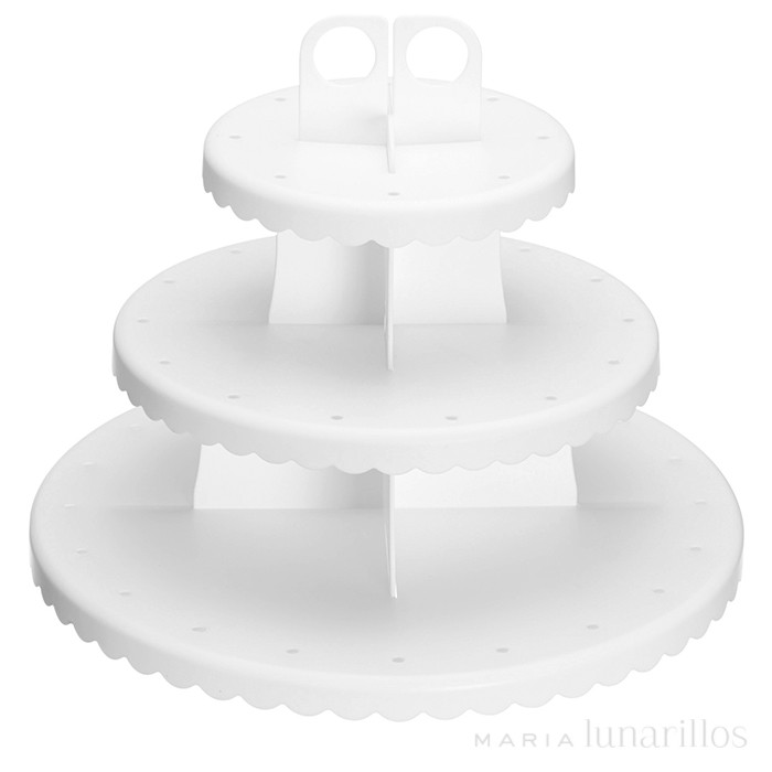 Stand 3 niveles para cupcakes y cake pops blanco - Kitchen Craft