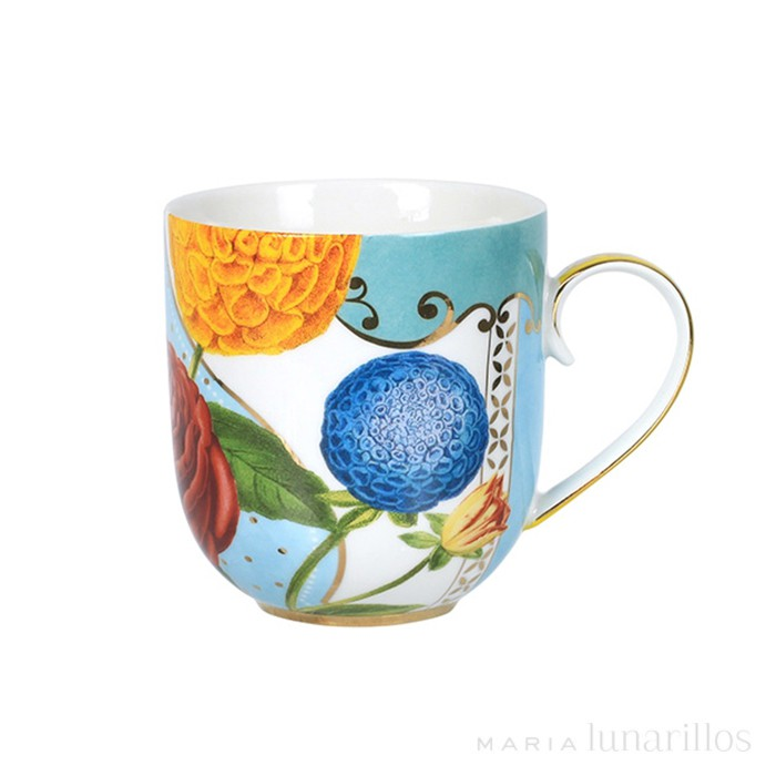 Taza con asa Royal Flowers 180 ml - Pip Studio