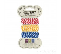 Baker's twine rayas rojo, amarillo, azul Sew Easy - We R Memory Keepers