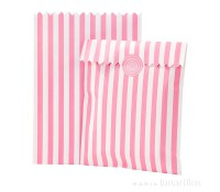 Bolsas de papel pink con pegatinas (10) - Talking Tables