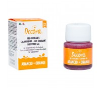 Colorante en gel naranja 28 g - Decora