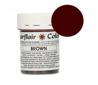 Colorante liposoluble para chocolate marrón 35 g - Sin gluten - Sugarflair