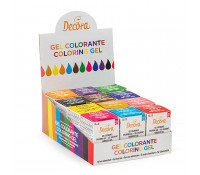 Colorantes en gel 28 g (12) - Decora