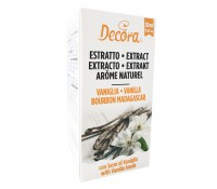 Extracto natural de vainilla con semillas Bourbon Madagascar 20 ml - Decora
