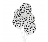 Globos transparentes confeti negro (5) - My Little Day
