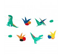 Guirnalda de papel dinosaurios - My Little Day