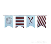 Guirnalda de papel Preppy Paddle 4,5 metros - Delight Department