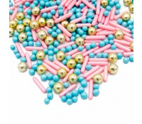 Sprinkles dorados, azules y rosas Happy Princess 190 g - Happy Sprinkles