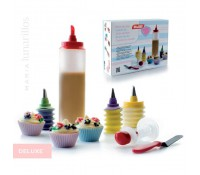 Kit decoración cupcakes Deluxe - Ibili