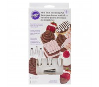 Kit de 8 mangas y 4 boquillas para decorar mini dulces - Wilton