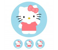 Oblea Hello Kitty nº 939 - Sin gluten - Postreadicción