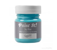 Pintura comestible Paint It opaca azul cielo 25 ml - Sin gluten - Rainbow Dust