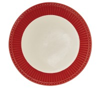 Plato de postre Alice Red 22,5 cm - GreenGate