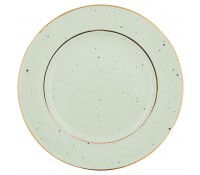 Plato de postre Pale Green With Gold Rim - GreenGate