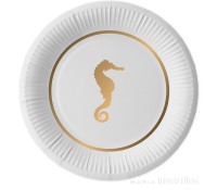Platos de papel Preppy Seahorse 22,5 cm (10) - Delight Department