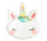Platos de papel We Heart Unicorns 22 cm (8) - Talking Tables