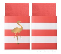 Servilletas de papel en bolsa Preppy Flamingo (20) - Delight Department