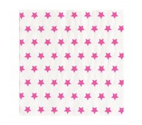 Servilletas de papel estrellas fucsia (20) - My Little Day