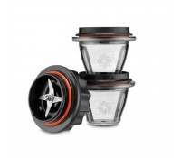 Set base cuchillas y 2 vasos para batidoras Ascent 2300i, 2500i y 3500i 225 ml - Tritán (sin BPA) - Vitamix