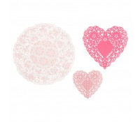 Set de blondas tonos rosa Pink N Mix Doily (30) - Talking Tables