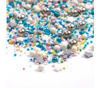 Sprinkles blanco, azul, rosa, plata y amarillo Cosmic Galaxy 90 gr - Happy Sprinkles