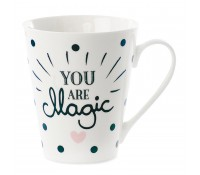 Taza con asa lunares negros Magic - Miss Étoile