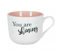 Taza con asa Your are shining estrellas rosa - Miss Étoile