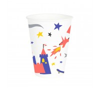 Vasos de papel caballeros 250 ml (8) - My Little Day