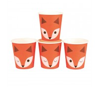 Vasos de papel pequeños zorritos (8) - My Little Day