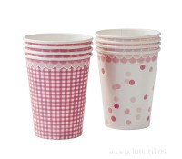 Vasos de papel Pink N Mix 250 ml (8) - Talking Tables