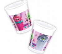 Vasos de papel Trolls 200 ml (8)