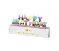 Velas letras We Heart Happy Birthday - Talking Tables